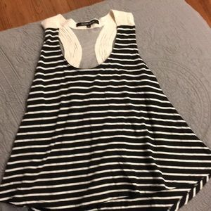 Striped thank too with cut out in back